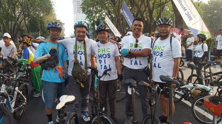 HUT PHC Gelar Sepeda Gembira, STIAMAK Siap Kerjasama
