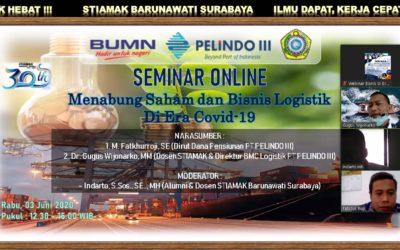 Responsif Terhadap Perekonomian, STIAMAK Gelar Webinar Menabung Saham dan Bisnis Logistik Era Covid-19